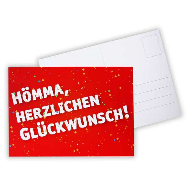 """Postkarte - """"Hömma, Herzlichen Glückwunsch"""""""