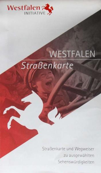 Westfalen-Straßenkarte: Straßenkarte und Wegweiser zu ausgewählten Sehenswürdigkeiten